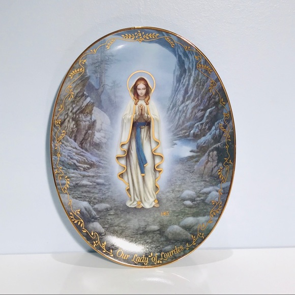 Our Lady of Lourdes Hector Garrido Plate Mary